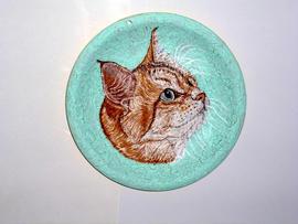 Сибиркая кошка(тарелочка 25х25)