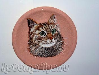 Сибирская кошка(тарелочка 25х25)