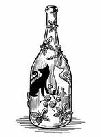 """Бутылка с коллажем """"Кошки"""""""
