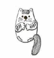 Кот-брелок из соленого теста.