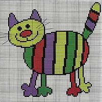 Полосатый цветной кот