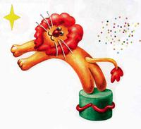 Пластилиновый лев-каскадер