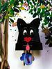 Кот-колокольчик из цветочного горшка